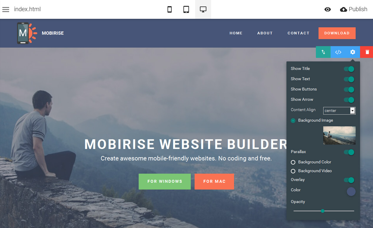 Mobirise 4.8.1.0 Crack + Licence Key 2019 Full Free Download