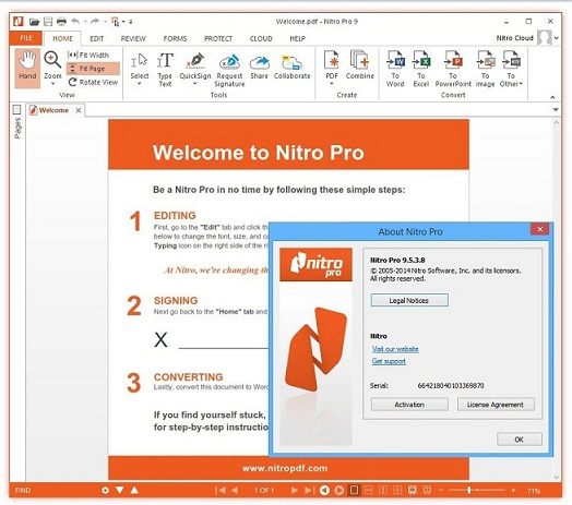 Nitro Pro 12.9.0.474 Crack + Activation Key 2019 Free Download Full Version [Latest]