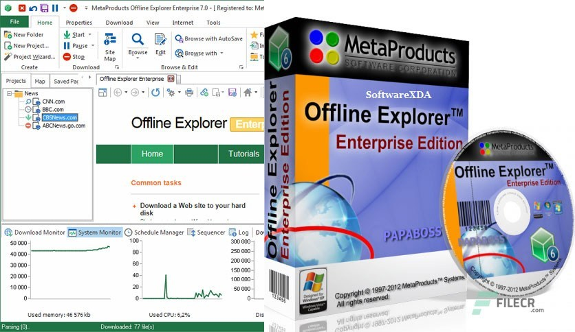 Offline Explorer Enterprise 2020 Latest version Free Download