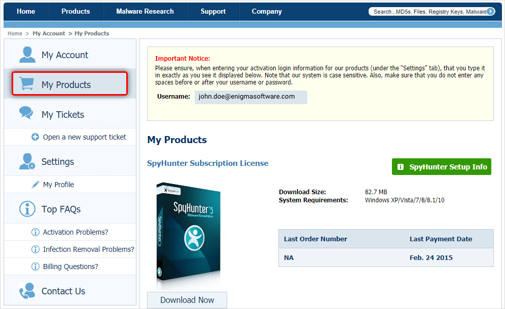 SpyHunter 5 Crack + Activation Key {Eimail & Password} [Latest]