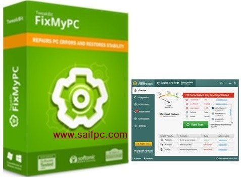 TweakBit FixMyPC 9.1.2.0 Crack + Activation Key 2019 Free Download