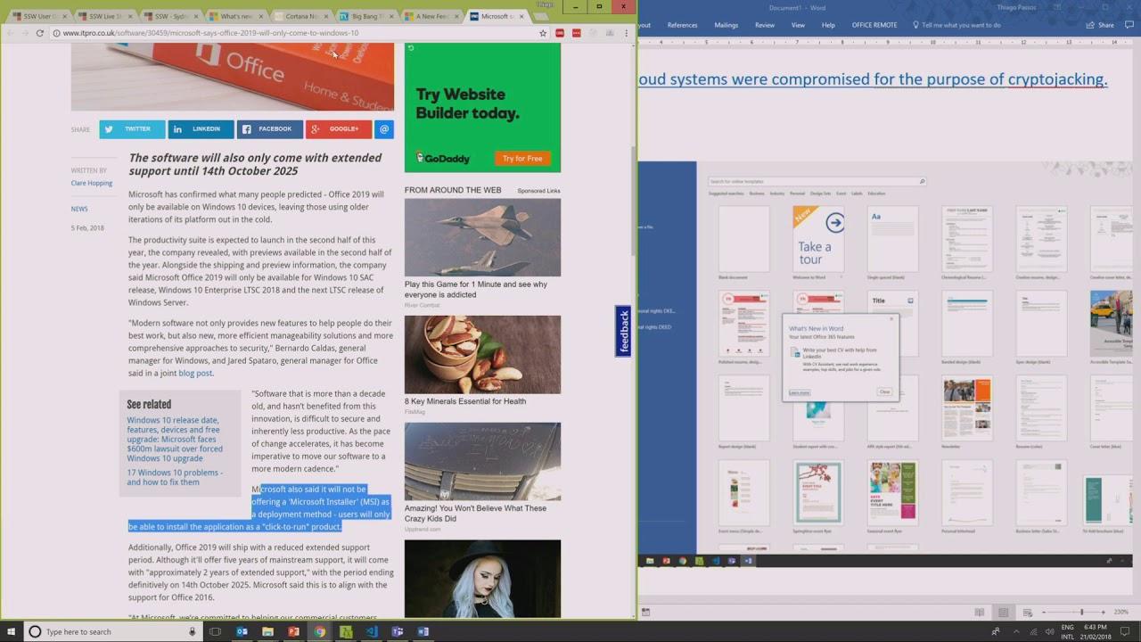 Microsoft Office 2019 Crack + Key Free Download [Windows + Mac]
