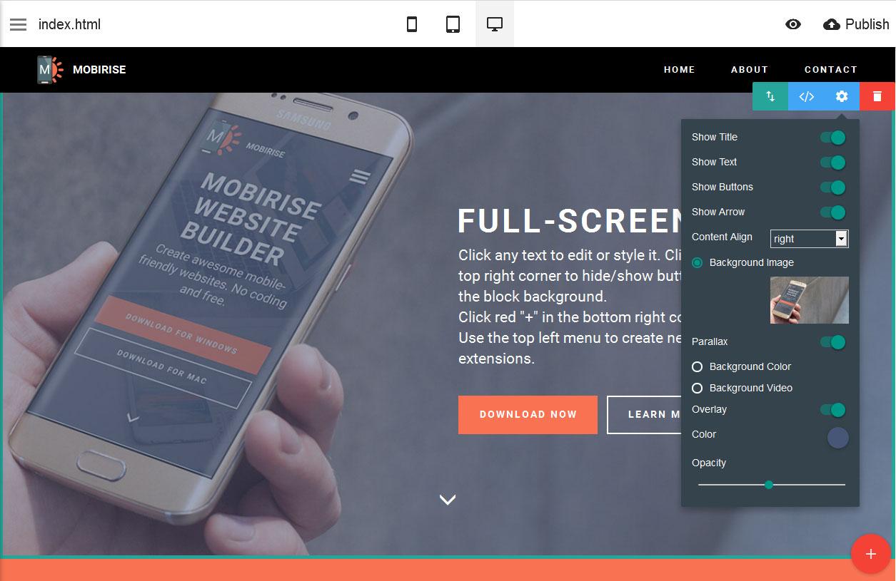 Mobirise 4.8.1.0 Crack + Licence Key 2019 Full Free Download