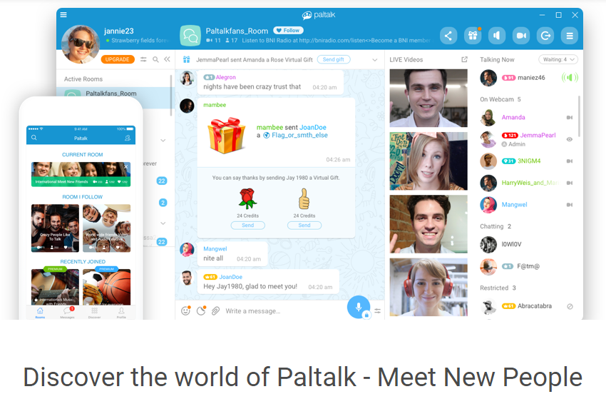 Paltalk Messenger Crack 1.13.88.32 2019 Free Download [Windows+Mac]