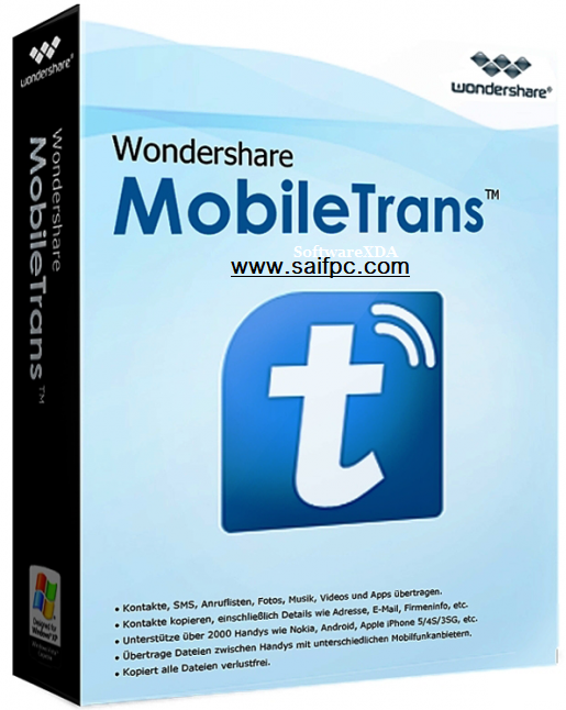 Wondershare MobileTrans 8.1.0 Crack + Registration Key 2019 Download