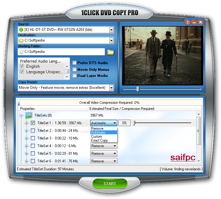 1CLICK DVD Copy Pro 6.1.2.7 Crack + Serial Key 2020 Download [Latest]
